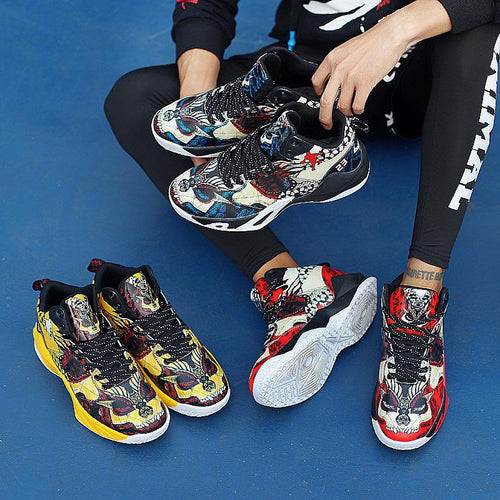 Fashion Sport Floral Printed Anti-Skid Basketball Shoes