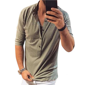 New In Men's Casual Plain T-Shirts