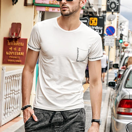 Men's Printed Style Casual T-Shirts