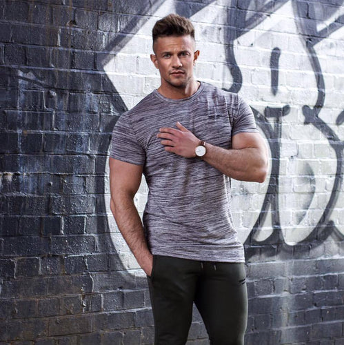 Heathered Sport Fitness Muscle T-Shirt