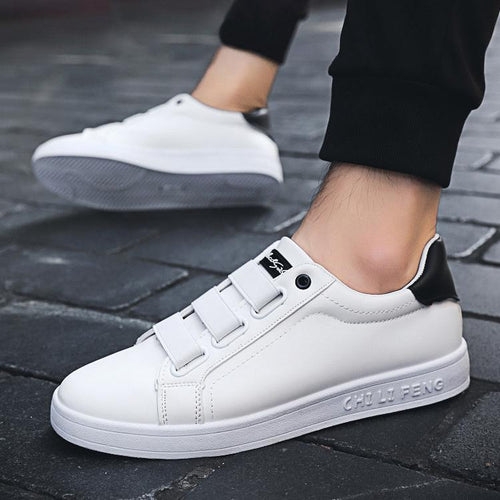 Leisure White Shoes A Lazy Shoe