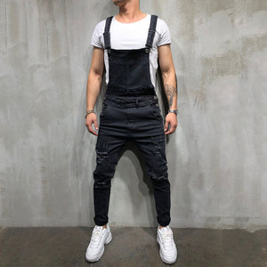 Men'S Middle Waist Broken Holes Jumpsuit