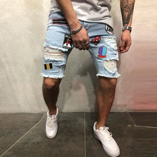 Load image into Gallery viewer, Street Style Embroidery Loose Short Denim Pants