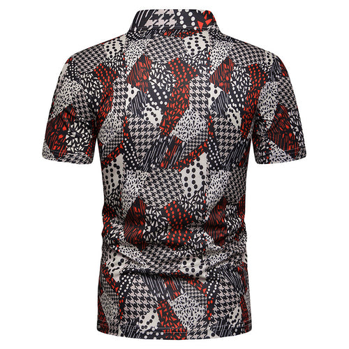 Printed Short Sleeve POLOT Shirt