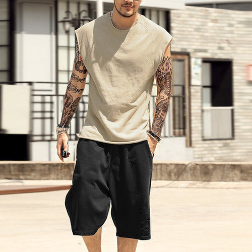 Casual Men's Round Neck Sleeveless T-Shirt
