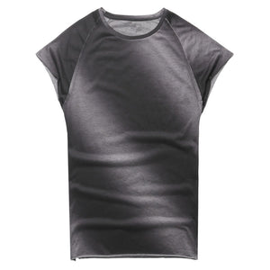 Summer Casual Round Neck Gradient T-Shirt Top