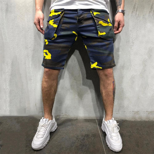Loose Casual Camouflage Multi-Pocket Tooling Shorts