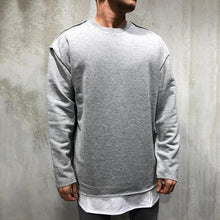 Load image into Gallery viewer, Fashion Round Neck Long Sleeve Solid Color Fray Sweatshirts