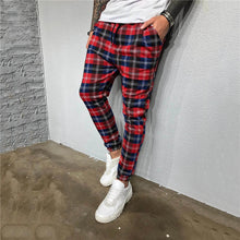 Load image into Gallery viewer, Fashion men's plaid print pants