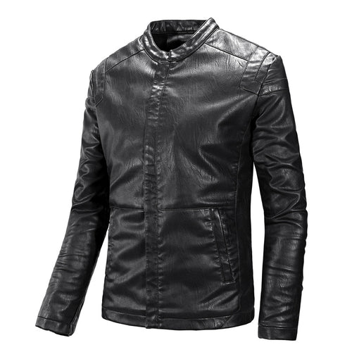 Fashion Casual Fit Leather Jacket