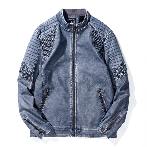 Men Thick Casual Leather Jacket Outwear