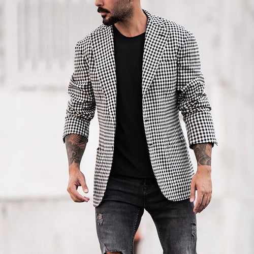 Fashion Check Two Button Coat