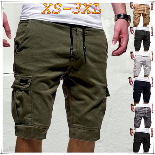 Cargo Shorts Men 2019 New Mens Casual Shorts Male Loose Work Shorts Man Overalls