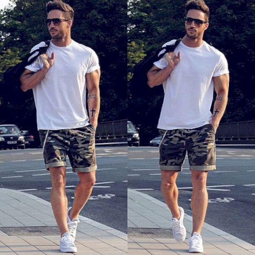 Men's Solid Color Casual Short Sleeve T-Shirt