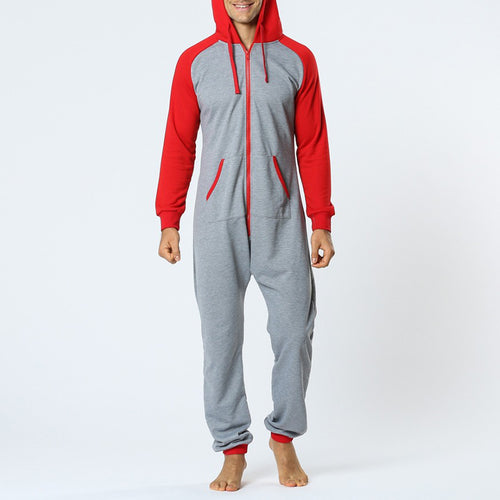 Home Style Comfortable Hooded Jumpsuit