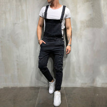 Load image into Gallery viewer, Men'S Middle Waist Broken Holes Jumpsuit