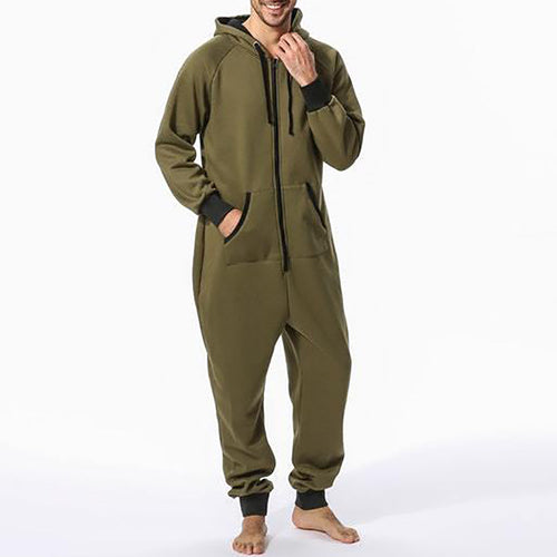 Home Style Thick Hooded Jumpsuits