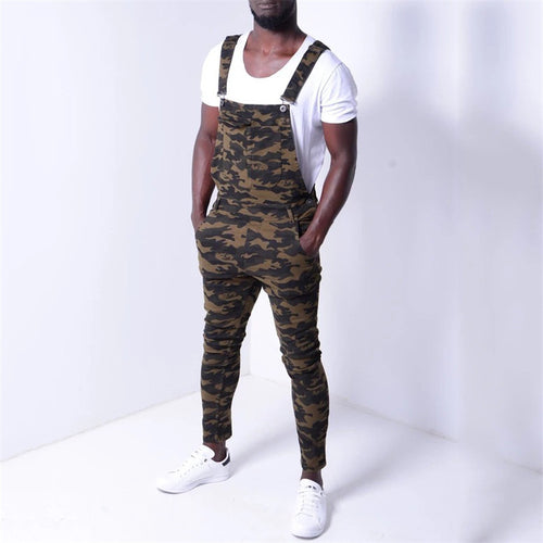 Fashion Camouflage Overal Sleeveless Jumpsuit