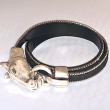 Horse Head Hair Double Wrap Bracelet