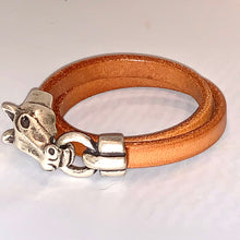 Horse Head Leather Double Wrap Bracelet