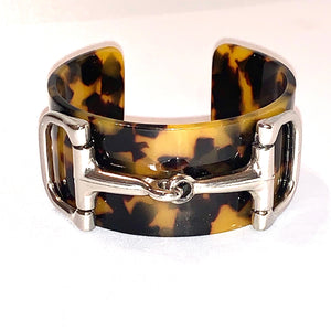 Tortoise Shell Bit Bangle
