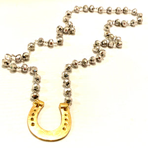 Beaded Horseshoe Necklace