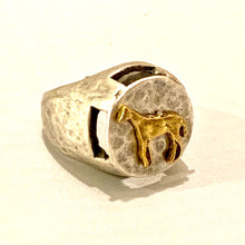 Hammered Zamak Horse Ring