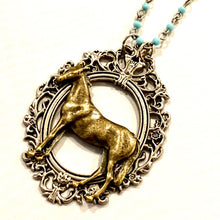 Horse in Frame Beaded Necklace