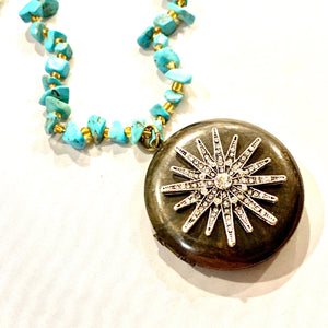 Art Deco Sun Locket