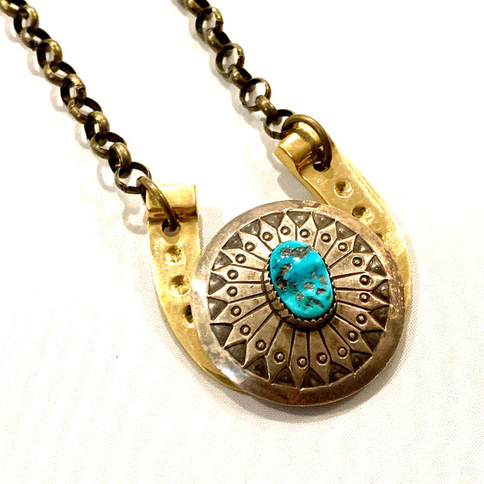 Bolo Horseshoe Necklace