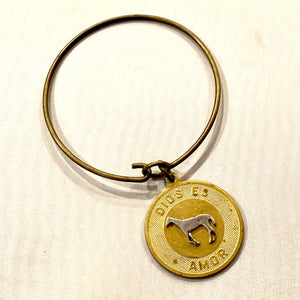 God is Love Equestrian Coin Bracelet