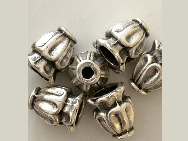Silver Plated Bead Caps