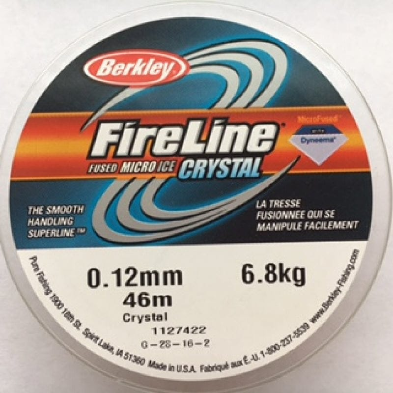 Fireline Thread, FLCR 6.8KG 0.12MM 45M (50YD) CRYSTAL CLEAR
