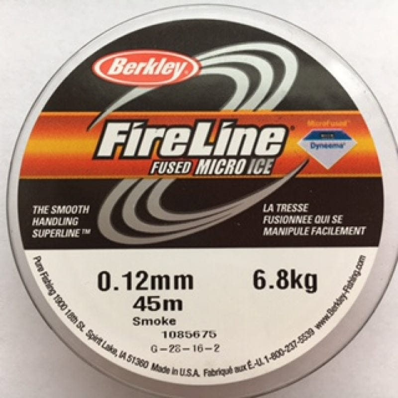 Fireline Thread, FLSG 6.8KG 0.12MM 45M (50YD) SMOKE GREY