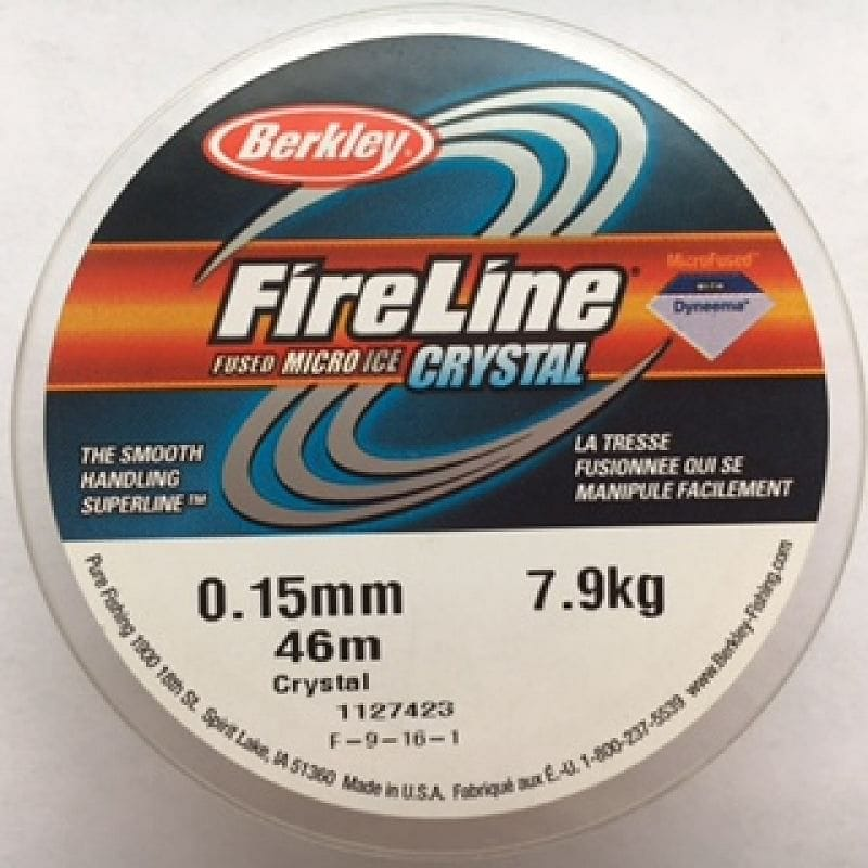 Fireline Thread, FLCR 7.9KG 0.15MM 45M (50YD) CRYSTAL CLEAR