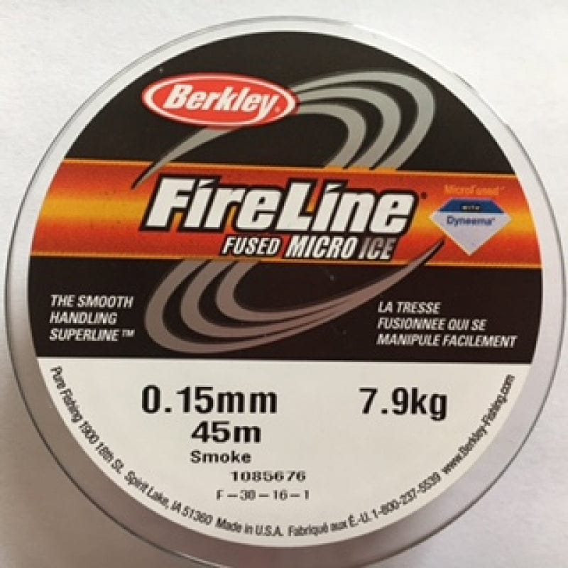 Fireline Thread, FLSG 7.9KG 0.15MM 45M (50 YD) SMOKE GREY
