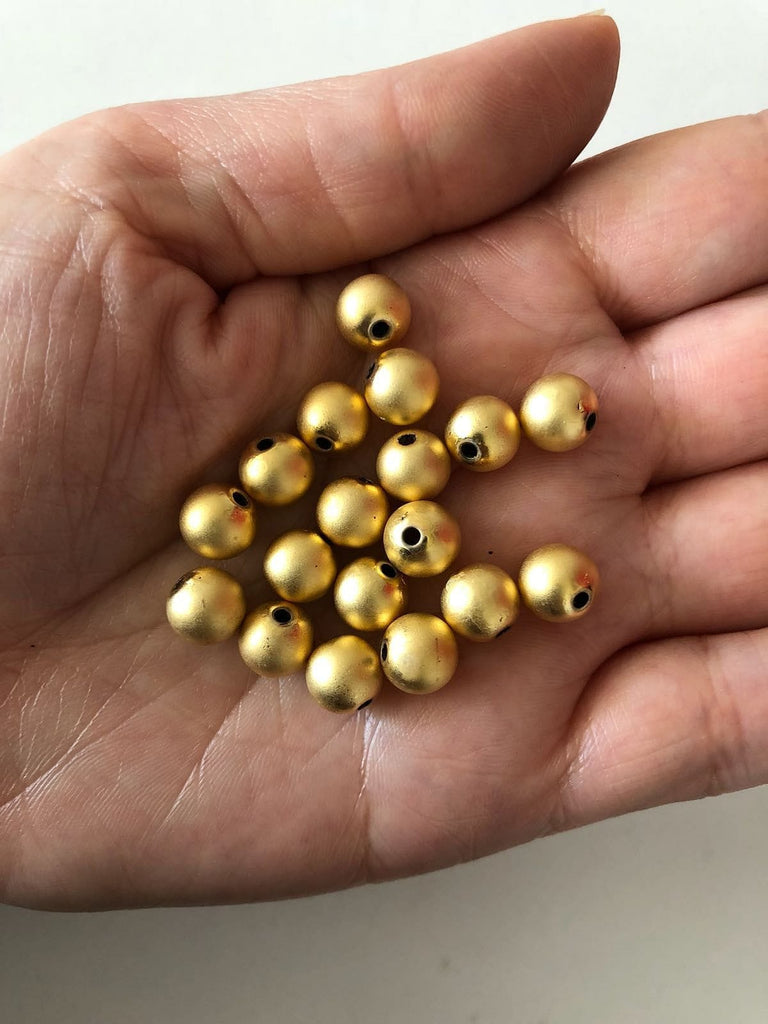 8mm 22kt Gold Plated Ball Beads,Spacer Beads, 20 pcs