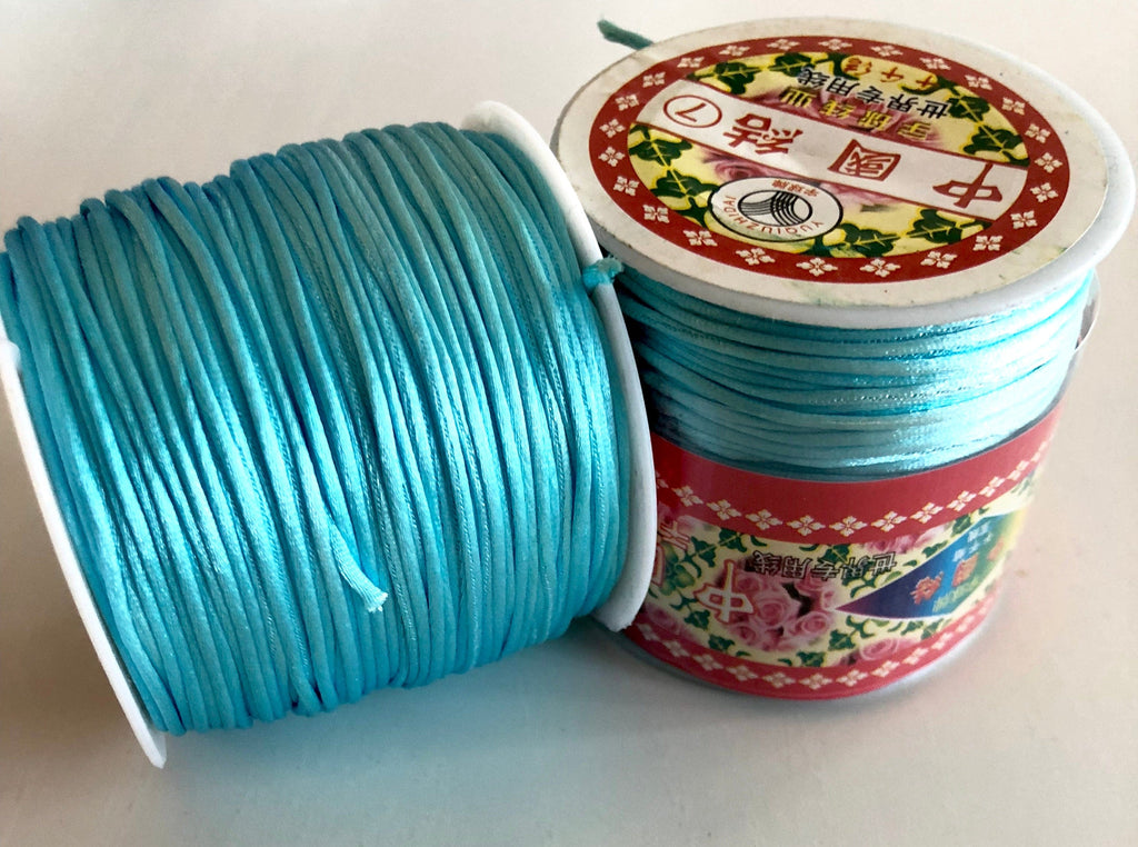 Satin Silk Cord, Satin Nylon Cord, Macrame Knotting DIY, Beading String, Thread Cording,1.5mm round cord satin, satinique cord round 1.5mm