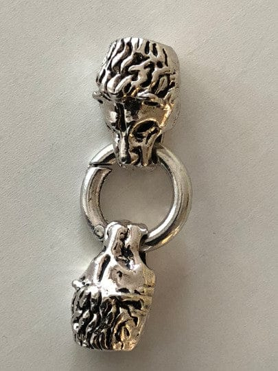 Silver Lion Leather Clasp 5cmSilver Lion Leather Clasp 5cm, Clasps For Leather