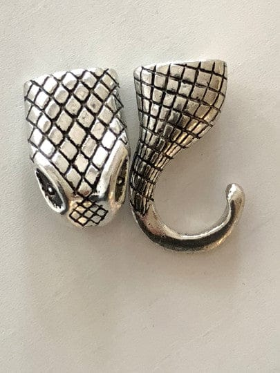 Silver Snack Leather Clasp 4.5 cm, Clasps For Leather