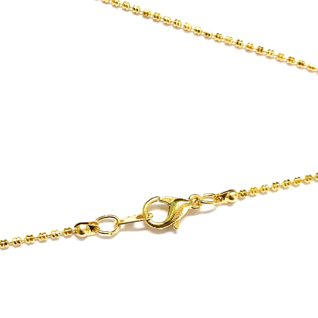24Kt Gold Plated Necklace Chain, Gold Plated Ready Necklace, 17 Inches Ready Necklace