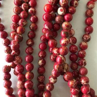 Natural Sea Sediment Jasper 8mm round bead ,47 beads per strand