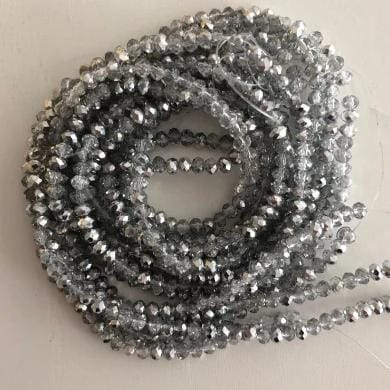 Crystal faceted rondelle - 150 pcs -4 mm - full strand - PBC4C40