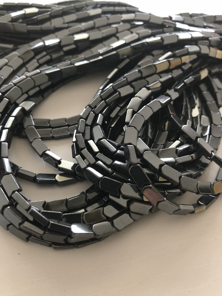 Hematite arrow beads ,spacer beads 5x8mm - full strand - 65 beads-Gunmetal-Gold-Copper-AAA Quality