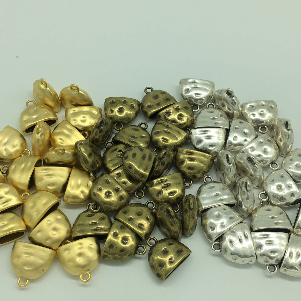 Antique Gold Plated Bead Caps 20x8x8 mm