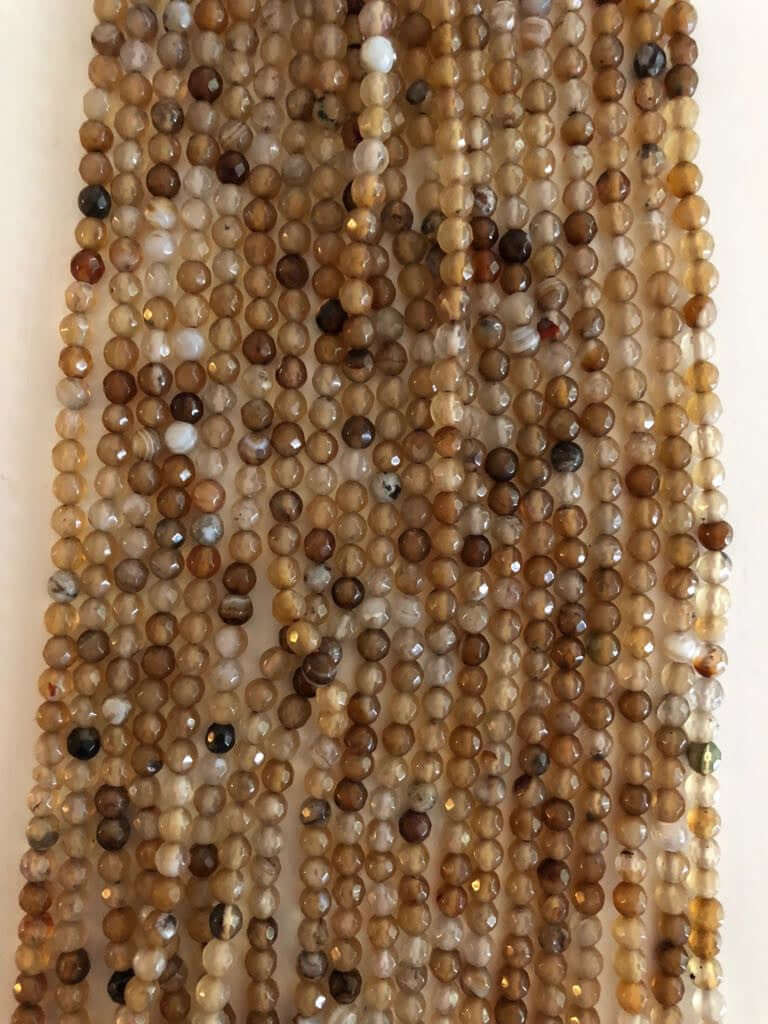 4mm Round Faceted Agate