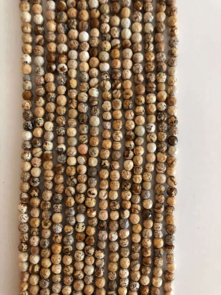 4mm Porcelain Jasper  round beads - full strand - 103 beads