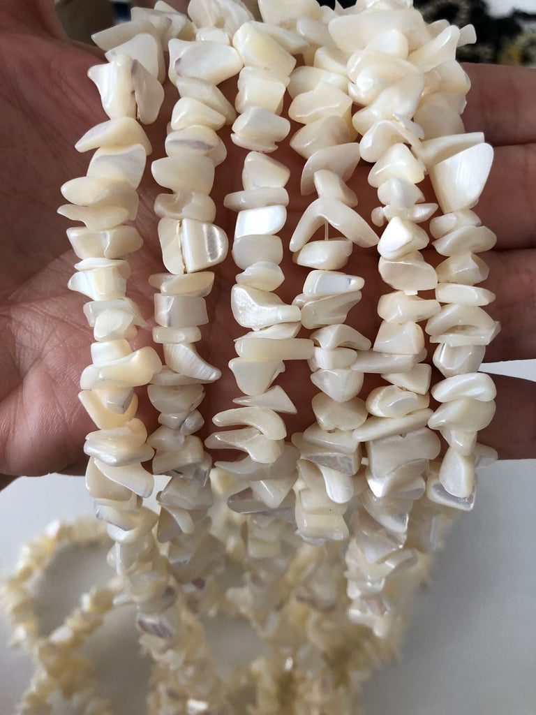 90 cm Strand Shell smooth stick beads, freeform shells, beads, gemstone beads,