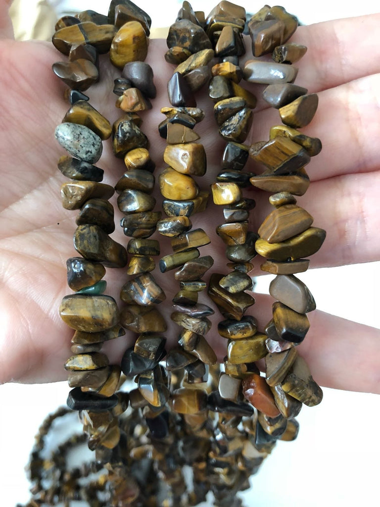 90 cm Strand Natural Tiger Eye Chips, Long strand 36'', beads, gemstone beads,