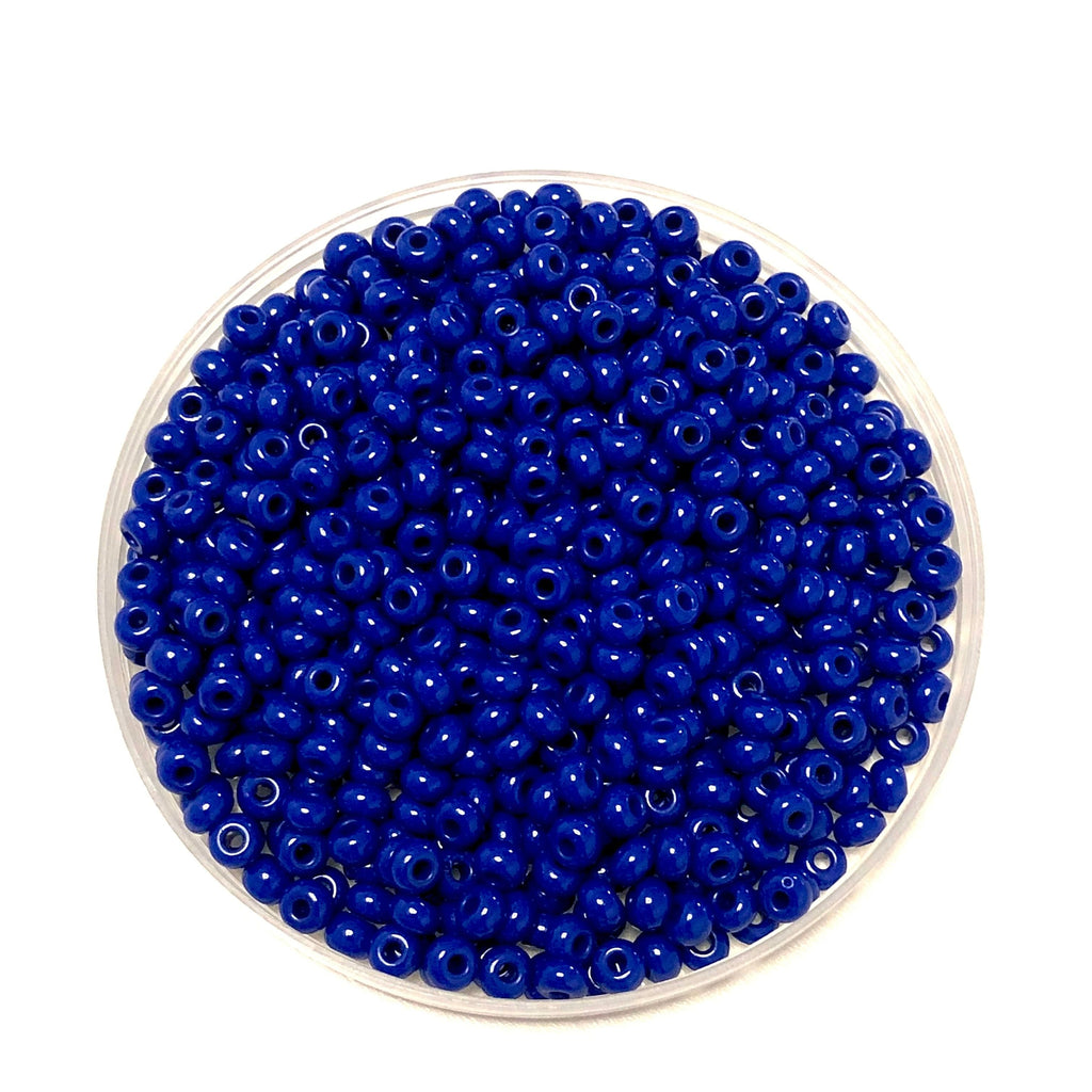 Preciosa Seed Beads 6/0 Rocailles-Round Hole 20 gr, 33050 Opaque Blue